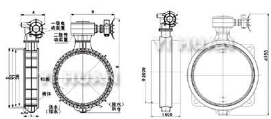 dk941x真空蝶阀结构图图片