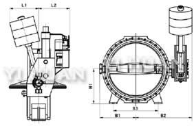 DS341X伸缩蝶阀结构图