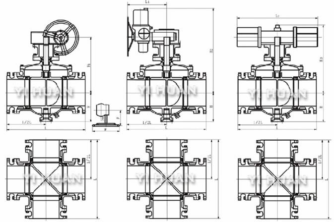 法兰球阀结构图