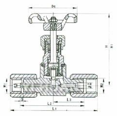 阀门 针阀 供应j19w-压力表仪表针型阀,压力表三通针型阀结构图,针型图片